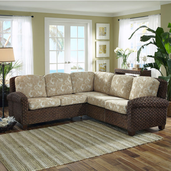 "Home Styles Cabana Banana II ""L"" Sectional Sofa, Cinnamon"