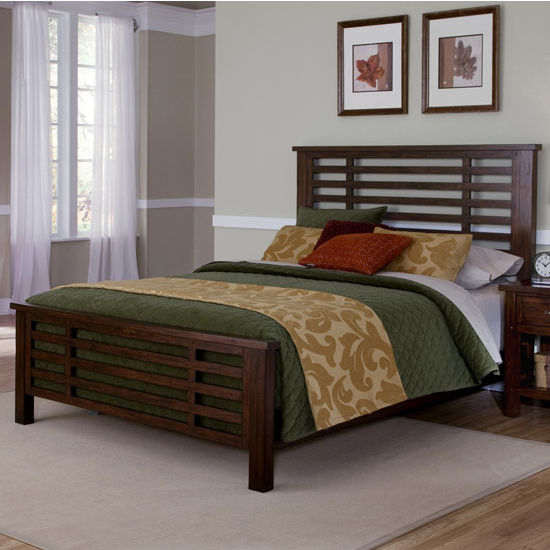Home Styles Cabin Creek King Bed, Chestnut