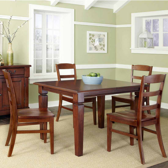 Home Styles The Aspen Collection 5-Pc. Dining Set with Dining Table and Four Ladderback Chairs, Rustic Cherry