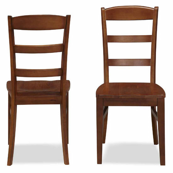 Home Styles The Aspen Collection Ladder Back Dining Chairs, Rustic Cherry, Set of 2