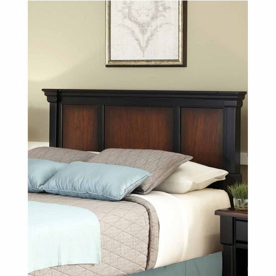 Home Styles The Aspen Collection Queen/Full Headboard, Rustic Cherry and Black