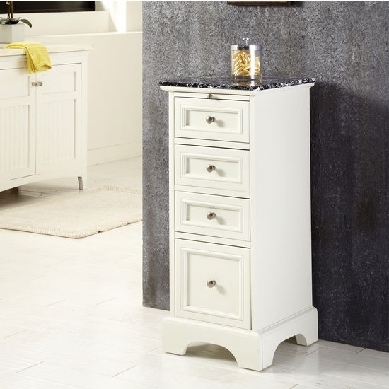Home Styles Naples Bath Chest, White