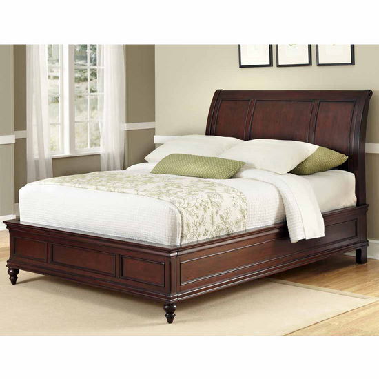 Home Styles Lafayette Queen Sleigh Bed, Rich Cherry