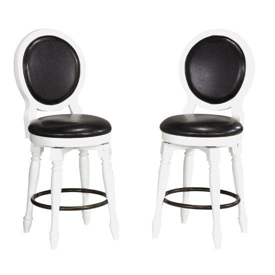 Home Styles Bermuda White Bar Stool