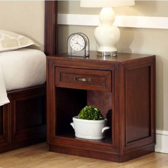 Home Styles Duet Storage Night Stand, Rustic Cherry