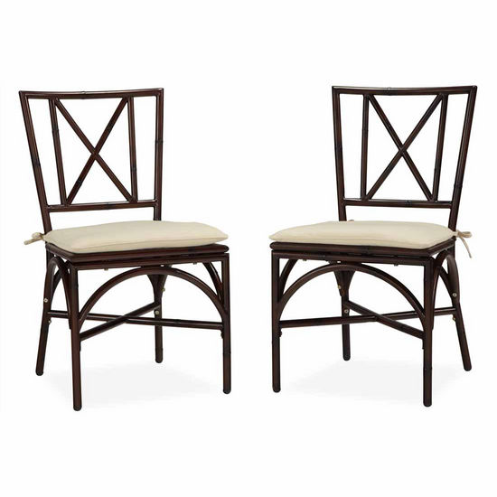 Home Styles Bimini Jim Dining Chair Pair w/ Cushion