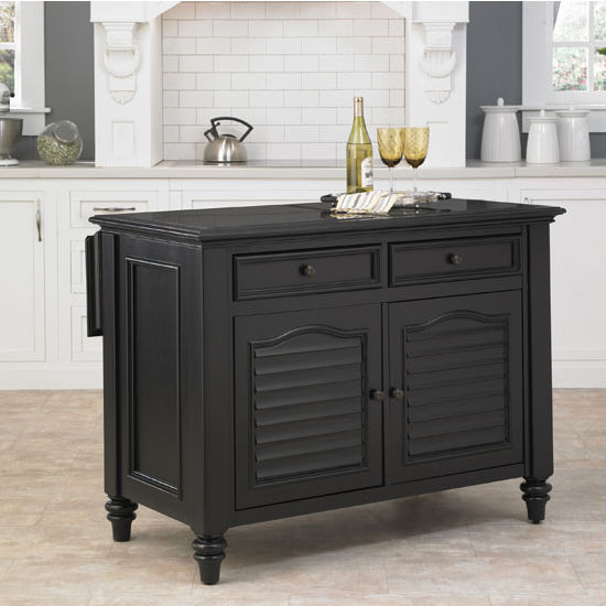 Home Styles Bermuda Black Kitchen Island