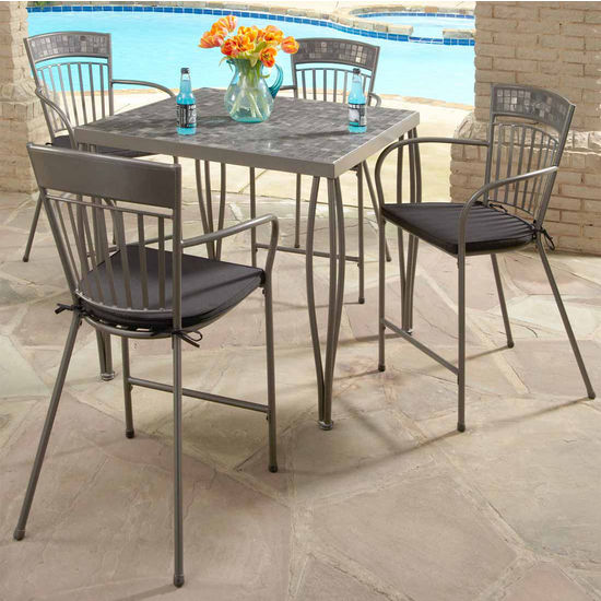 Home Styles Glen Rock Marble 5-Pc. Bistro Set