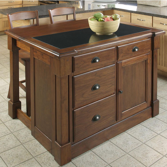 Kitchen Island 36 X 48 home styles aspen kitchen island w/ hidden drop leaf support