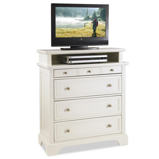 "Home Styles Naples TV Media Chest, White Finish, 36""W x 16""D x 42""H"