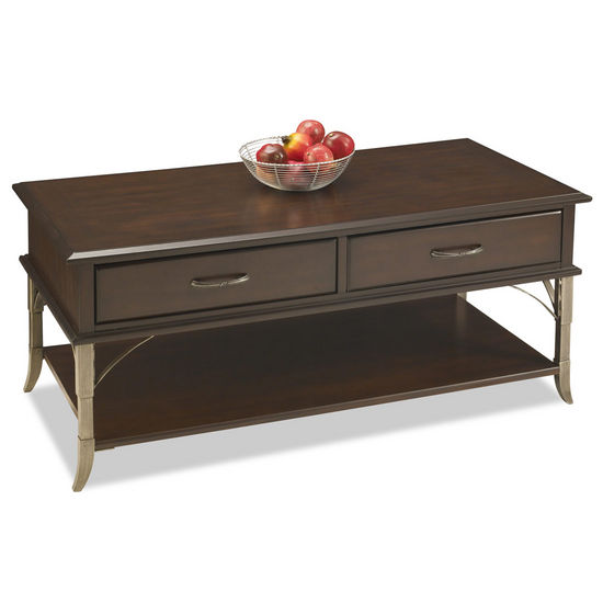 "Home Styles Bordeaux Cocktail Table, Espresso Finish, 44-1/2""W x 22""D x 20""H"