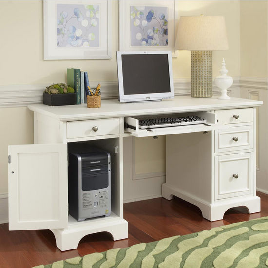home styles naples pedestal desk white finish view all from home