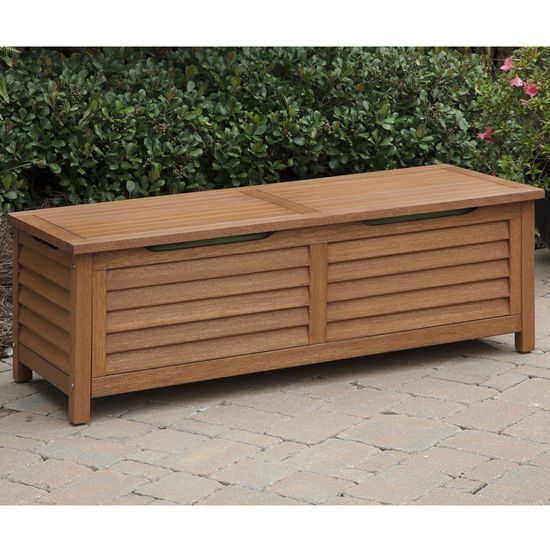"Home Styles Montego Bay Deck Box, Eucalyptus Finish, 51-1/4""W x 19-3/4""D x 17-3/4""H"
