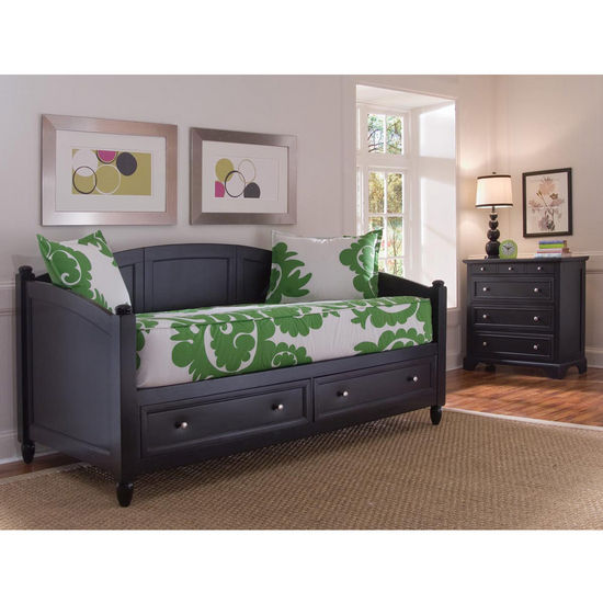 Home Styles Bedford Storage Daybed & Chest, Black