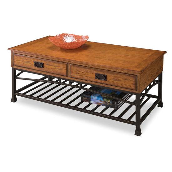 Home Styles Modern Craftsman Coffee Table, Oak