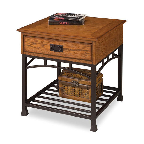 Home Styles Modern Craftsman End Table, Oak