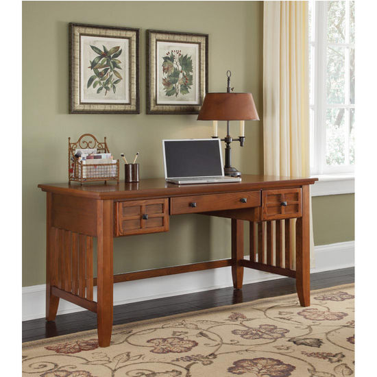 Home Styles Arts & Crafts Executive Desk, Cottage Oak