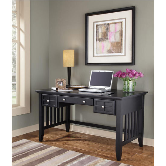 Home Styles Arts & Crafts Executive Desk, Black