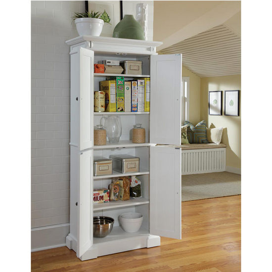 Home Styles Americana Pantry In White With Free Shipping