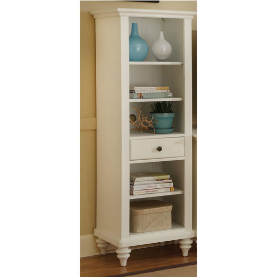 Home Styles Bermuda Pier Cabinet, Textured Brushed White
