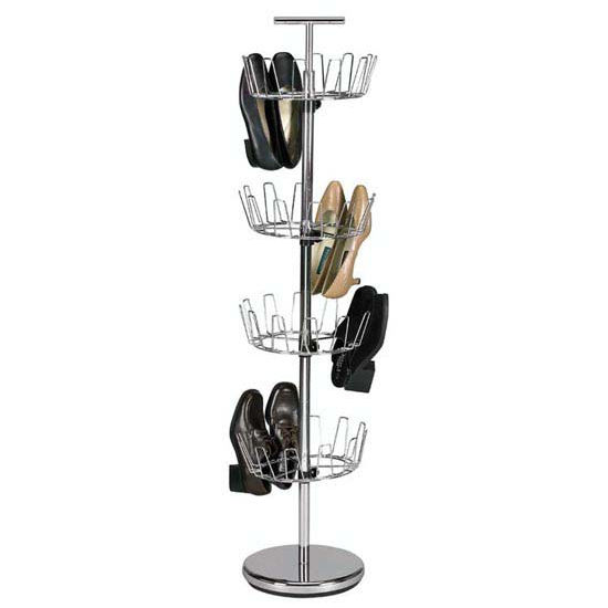 Household Essentials 4-Tier Revolving Shoe Tree, Chrome