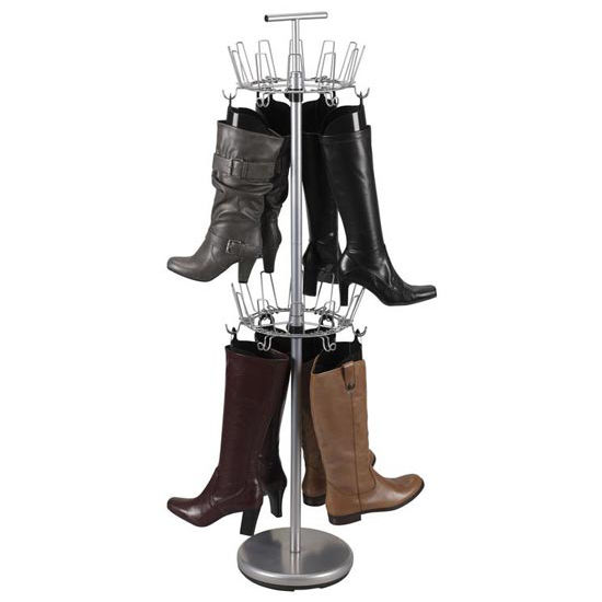 Household Essentials Boot Tree, Silver with 12 Single Boot Shapers