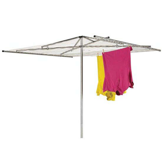 Household Essentials Outdoor Parallel Dryer- Aluminum Arms, 2Pc Pole, 30-Line 210' Drying Space