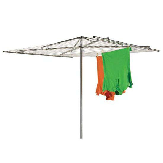 Household Essentials Outdoor Dryer Parallel - Steel Arms, 2-Pc Pole, 30-Line 210' Drying Space
