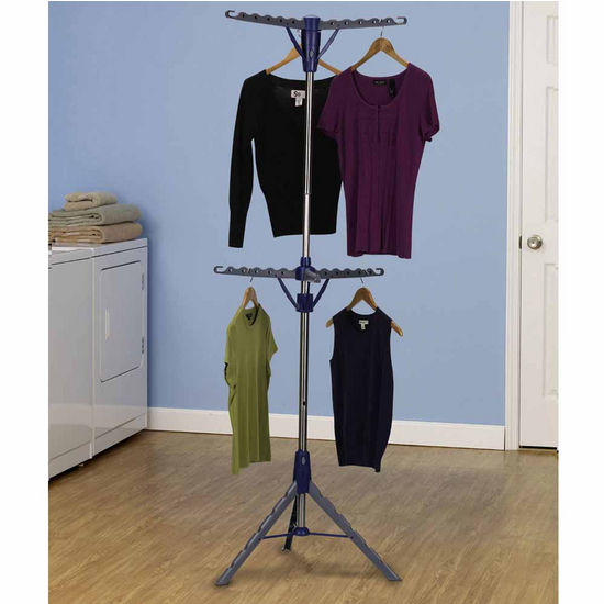 Household Essentials 2-Tier Tripod Floor Standing Dryer - Stainless Steel