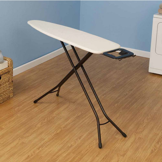 Household Essentials Fibertech Top Ironing Board with Bronze 4-Leg & Natural Cotton Cover