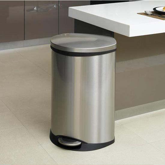Household Essentials 13.2 Gallon (50 Liter) Shell Step Bin, Soft Close