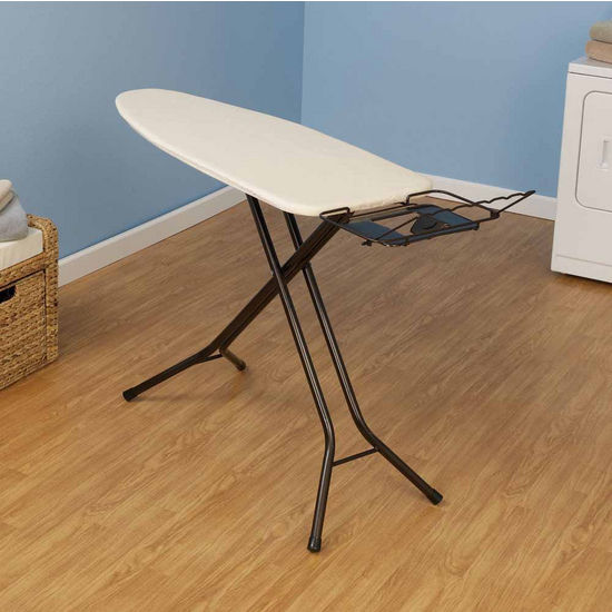 Household Essentials Fibertech Mega Widetop Ironing Board with Bronze 4-Leg & Natural Cotton Cover