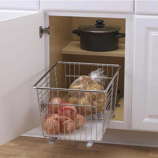 Genial Household Essentials Veggie Bin With Liner Chrome, Craft Single Pack