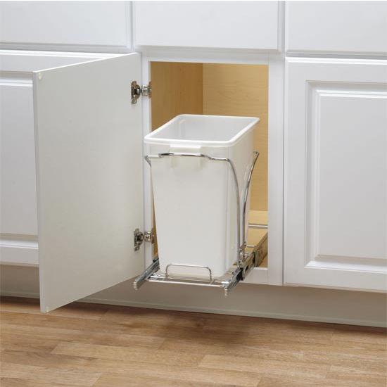 "Household Essentials 16"" Sliding Trash Can-KD Chrome Single Pack New Design"