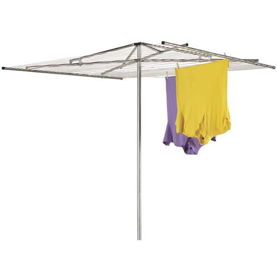 Household Essentials Outdoor Dryer Parallel - Steel Arms, 2Pc Pole, 30-Line 182' Drying Space