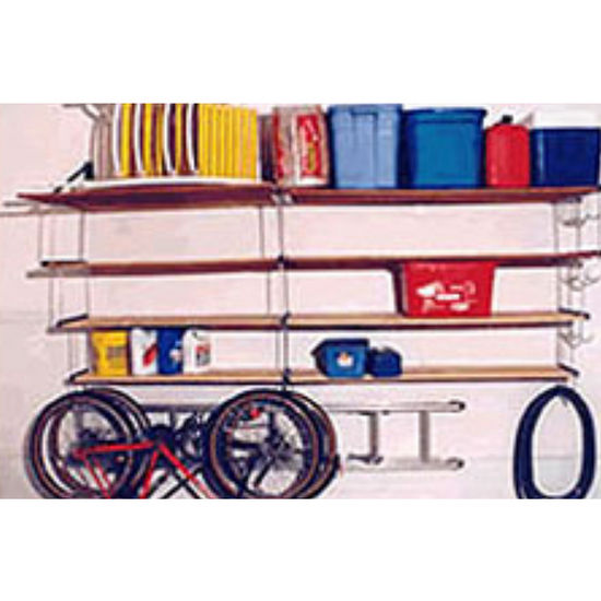 Three Level Wall Mounted Shelving Hardware
