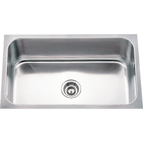 30 Wide 18 Gauge 304 Stainless Steel Rectangular Utility Sink And