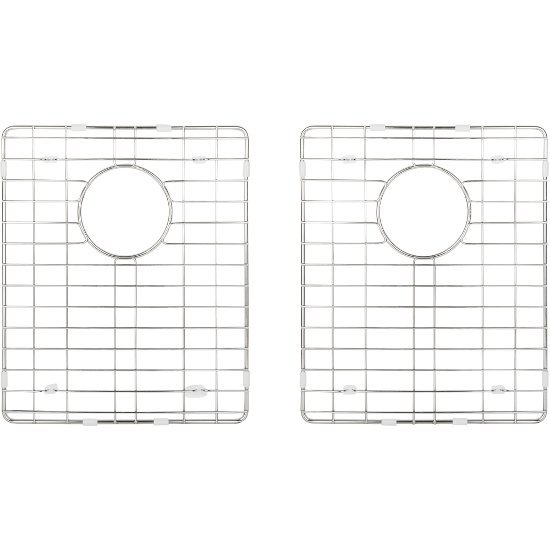 """Hardware Resources 2-Piece Stainless Steel Grid for HMS250 Fabricated Kitchen Sink, 12-13/16"""" W x 15-3/8"""" D x 1"""" H"""