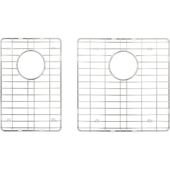"""Hardware Resources 2-Piece Stainless Steel Grid for HMS260 Fabricated Kitchen Sink, 15-3/8"""" W x 15-3/8"""" D x 1"""" H"""
