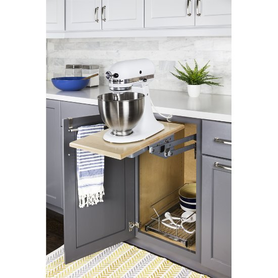 Hardware Resources Soft-Close Mixer/Appliance Lift, Chrome