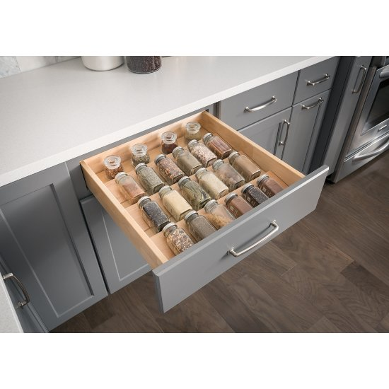 Used Kitchen Cabinet Hardware: Birch Spice Tray Organizer For Drawers Used In 15'' Or 24