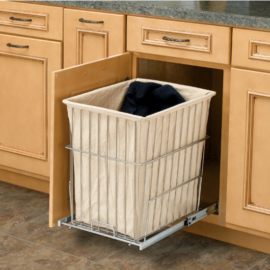 Chrome Pull-Out Hamper