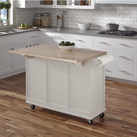 Home Styles 4528 95 Kitchen Island Cart: Liberty Wood Top Mobile Kitchen Cart W/ Wood Or Stainless