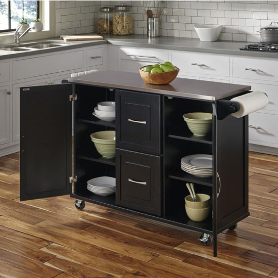 Patriot Mobile Stainless Steel Kitchen Cart With Two