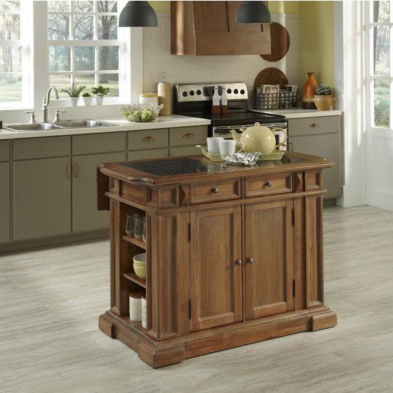 Americana Vintage Kitchen Island with Optional Granite Inlays  Home
