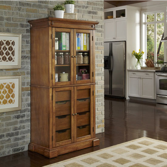 Americana China Pantry With Drawers And Adjustable Shelves