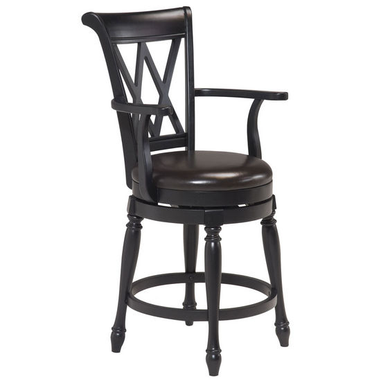 Traditional Swivel Bar Stool