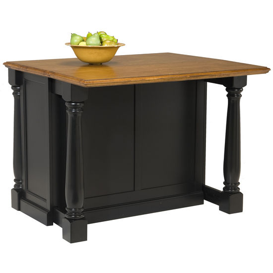 Kitchen Islands - Monarch Kitchen Island by Home Styles with Black ...