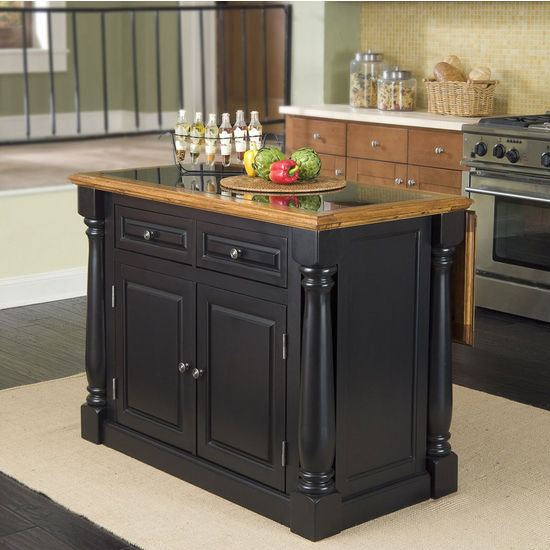 Home Styles Brown Farmhouse Kitchen Islands At Lowes Com: Monarch Kitchen Island With Granite