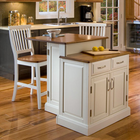 Home Styles Woodbridge Two Tier Kitchen Island & Two